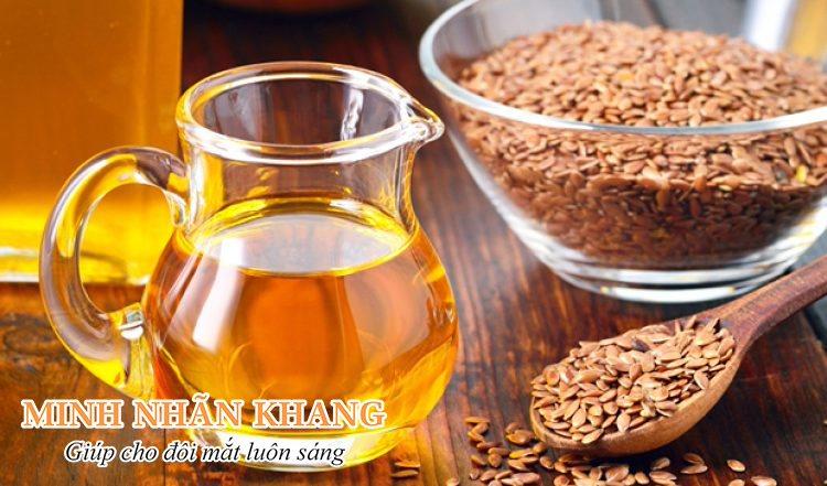 Bổ sung dầu hạt lanh và dầu cá giúp trị khô mắt hiệu quả
